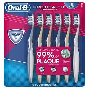 Amazon: Oral-B Pro Health All In One Soft Toothbrushes, 6 Count