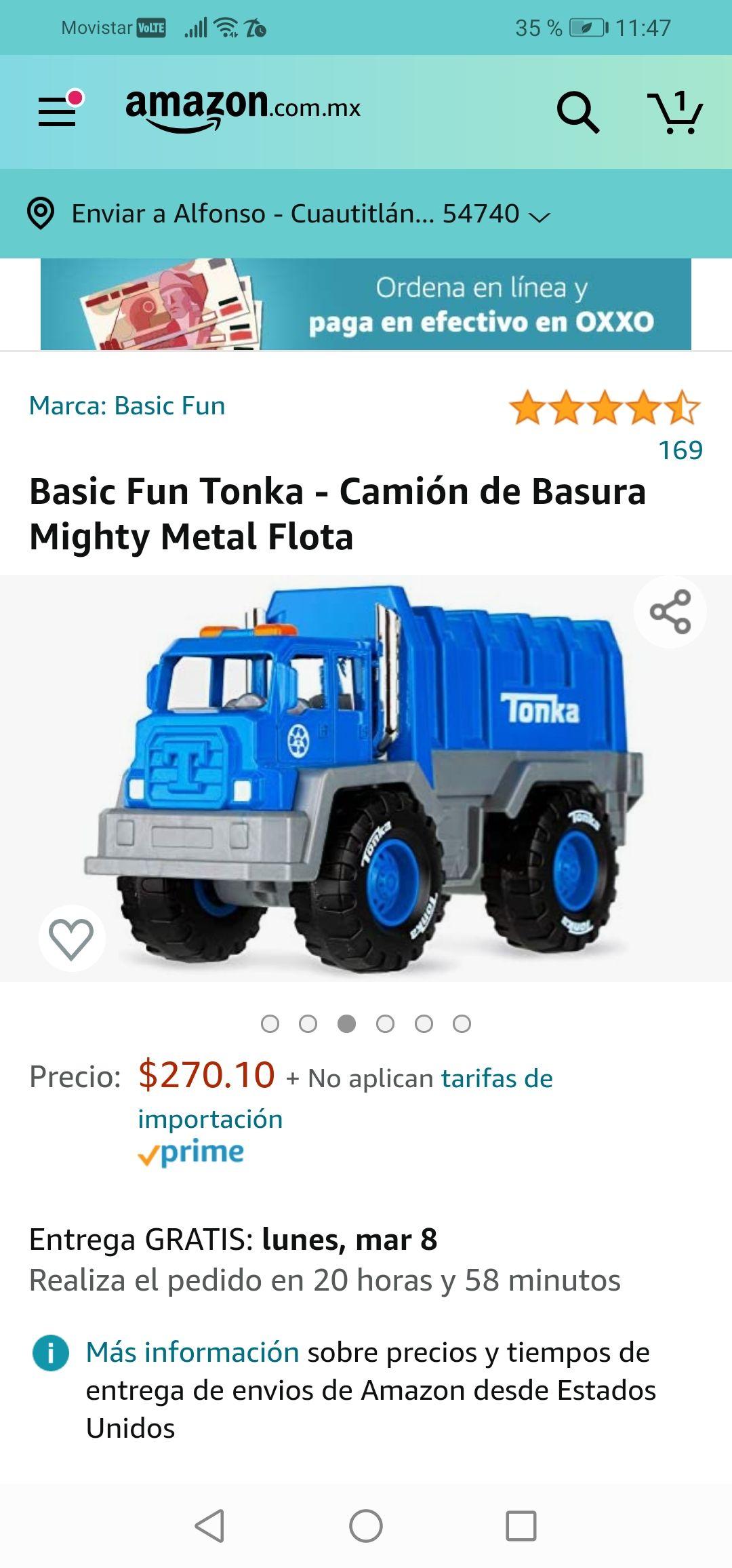 Amazon: Camión Tonka