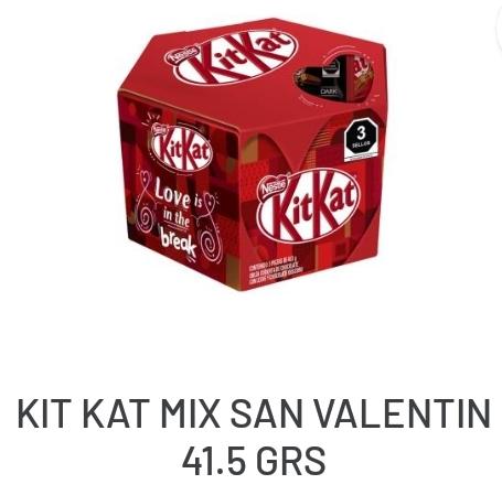 Soriana: Chocolate KitKat San Valentín 3 piezas