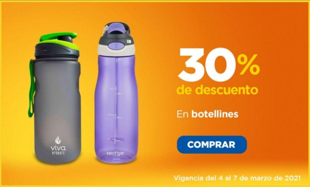 Chedraui: 30% de descuento en todos los botellines para agua