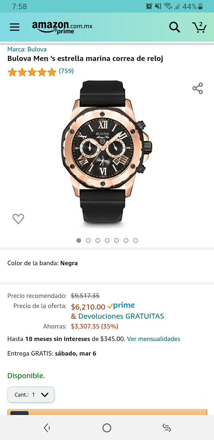 Amazon Reloj Bulova Marine Star 98B104
