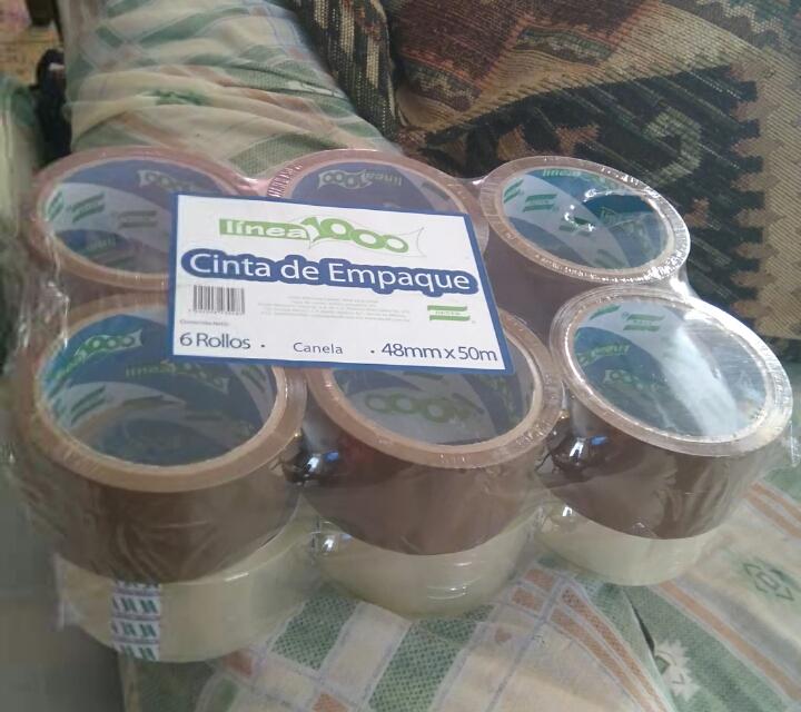 Walmart Las Torres: cintas six pack canela y transparente a $10.01