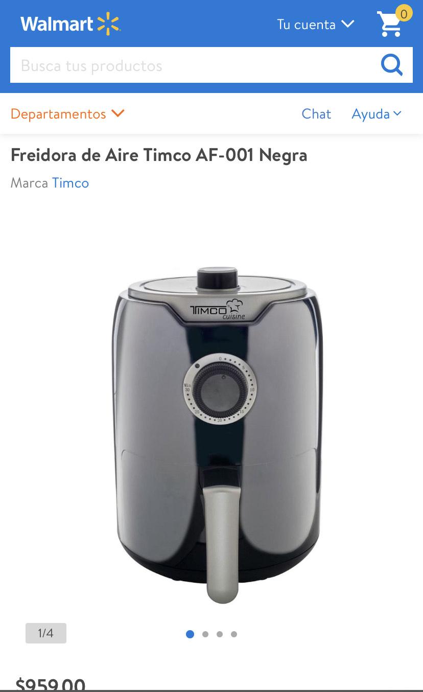 Walmart: Freidora de Aire Timco AF-001 Negra 2.5 litros
