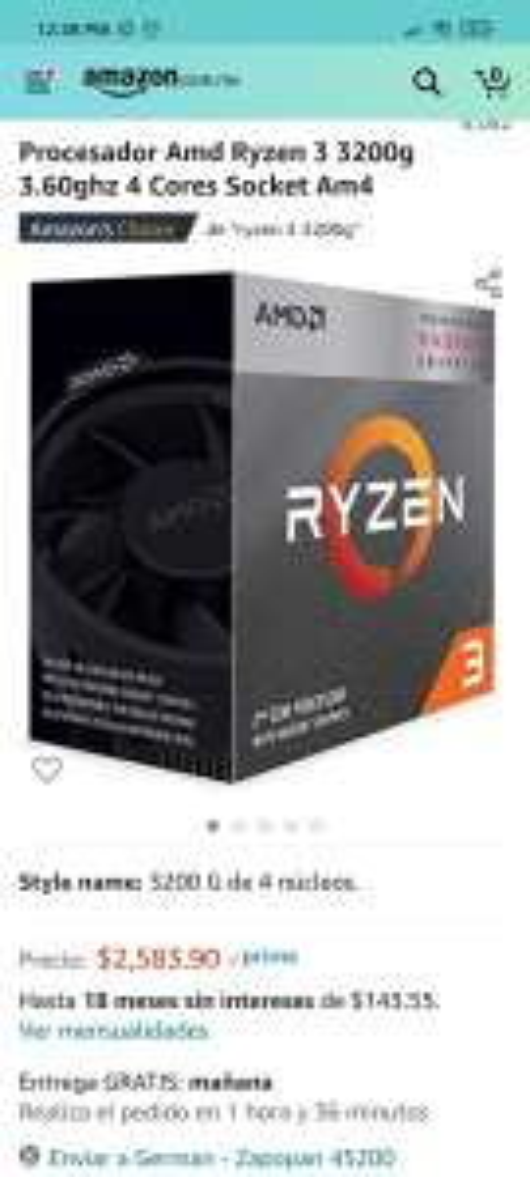 Amazon: Ryzen 3 3200G