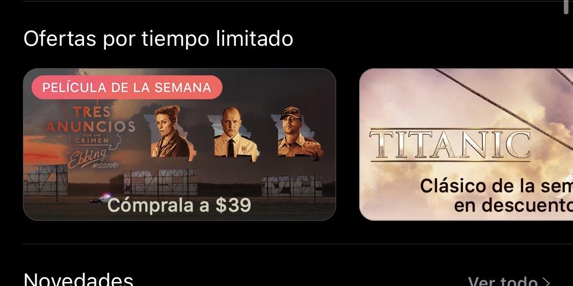 iTunes 3 anuncios por 1 crimen - $39 pesos