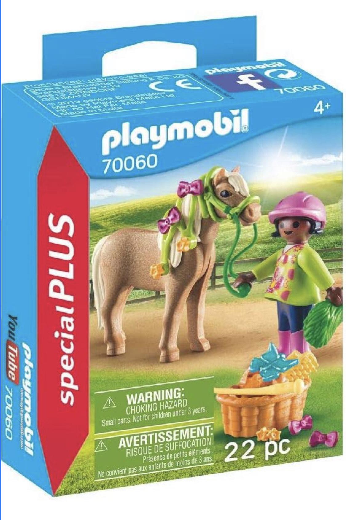 Amazon: Playmobil niña con pony