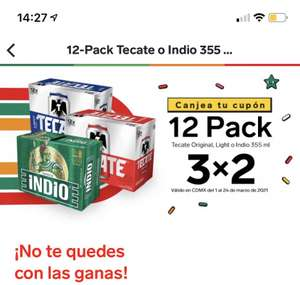 7 Eleven: Tecate, Indio 3X2 12 pack