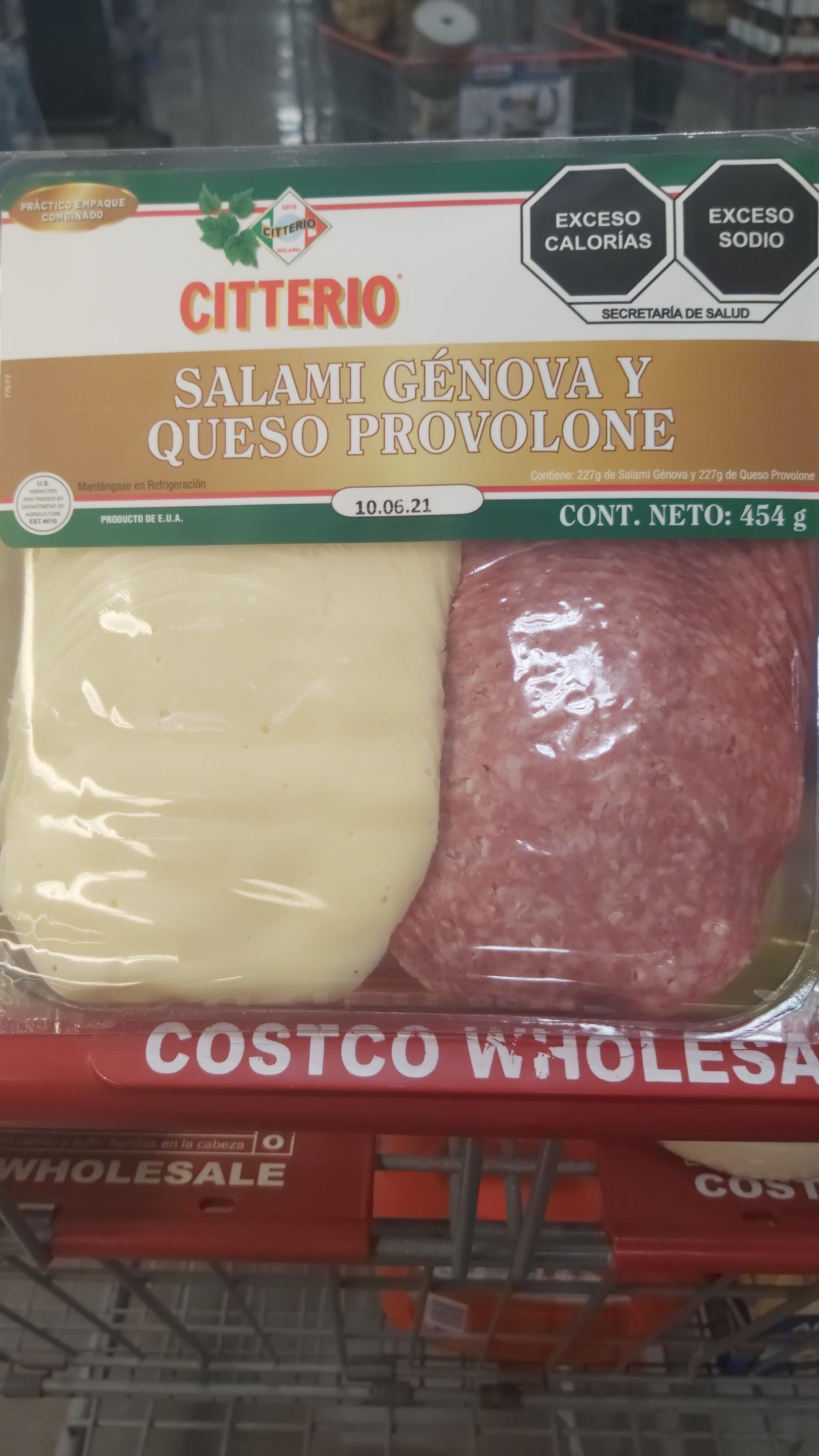Costco: Salami Genova y queso provolone costco