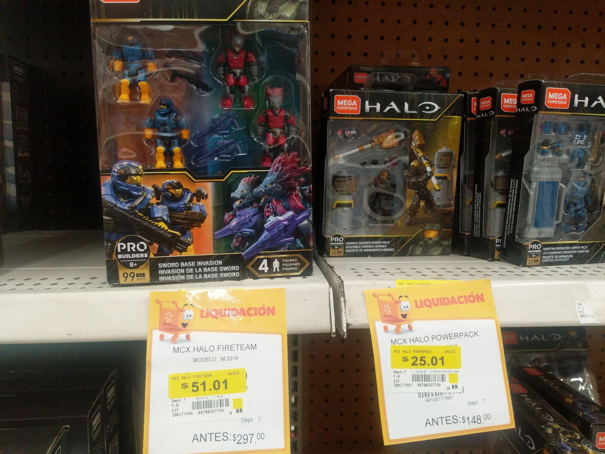 Walmart: Figuras Halo megaconstrux