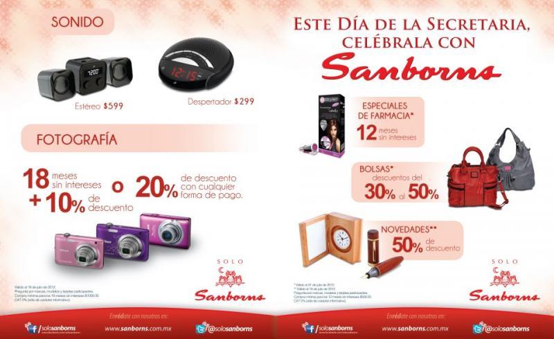 Sanborns: 20% de descuento en fotografía, hasta 50% en bolsas y más