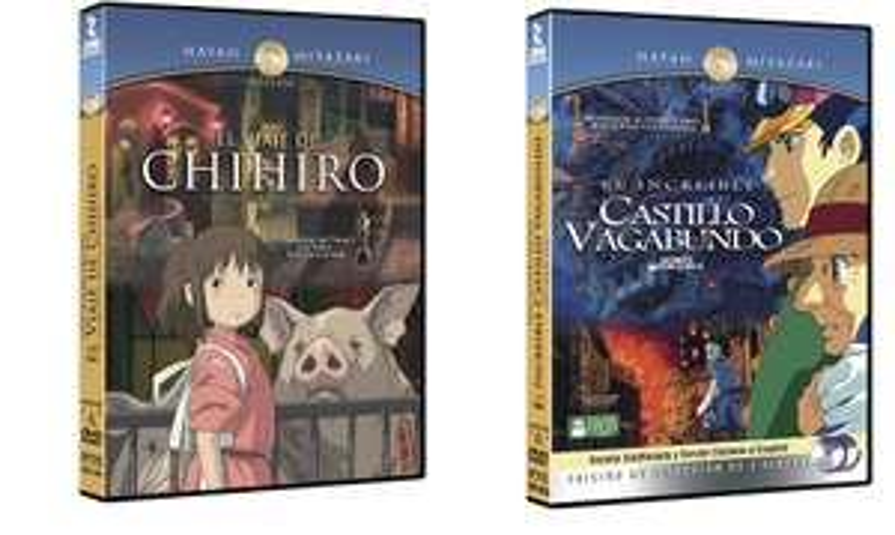 Amazon: películas DVD  ¨El Viaje de Chihiro¨ y ¨El Increíble Castillo Vagabundo¨ a $29 cada uno.