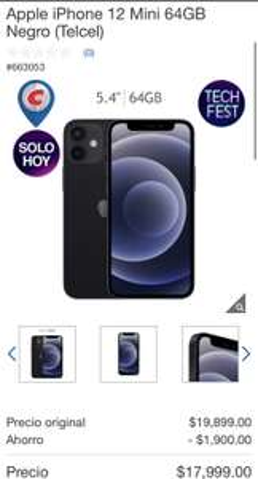 Costco: iPhone 12 mini a 12 MSI