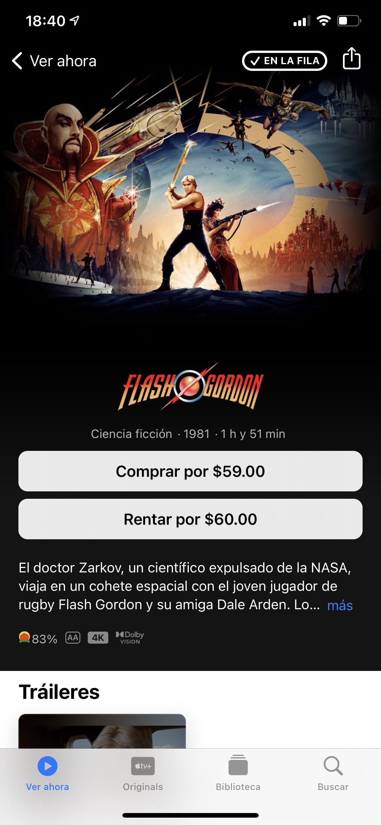 iTunes: Flash Gordon 4K