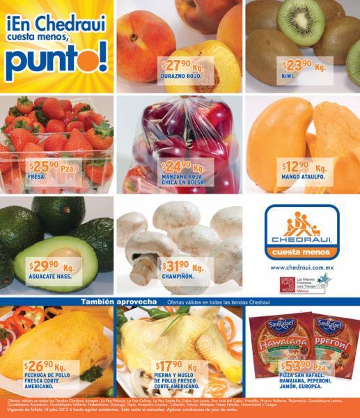 Miércoles de frutas y verduras Chedraui julio 18: papaya $9.50, papa $10.90 y más