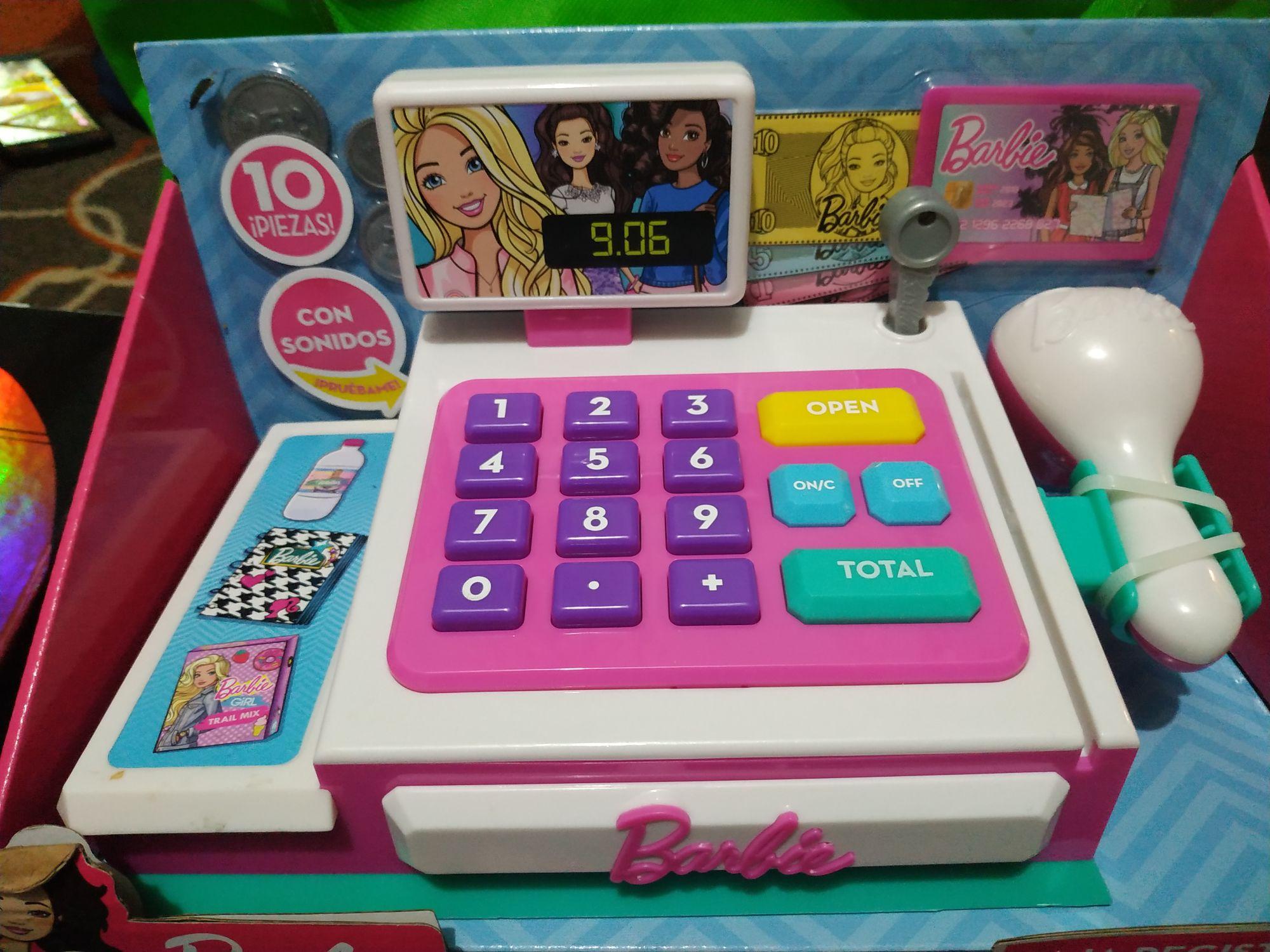 Walmart Barbie Caja Registradora y Sábanas Parent's Choice