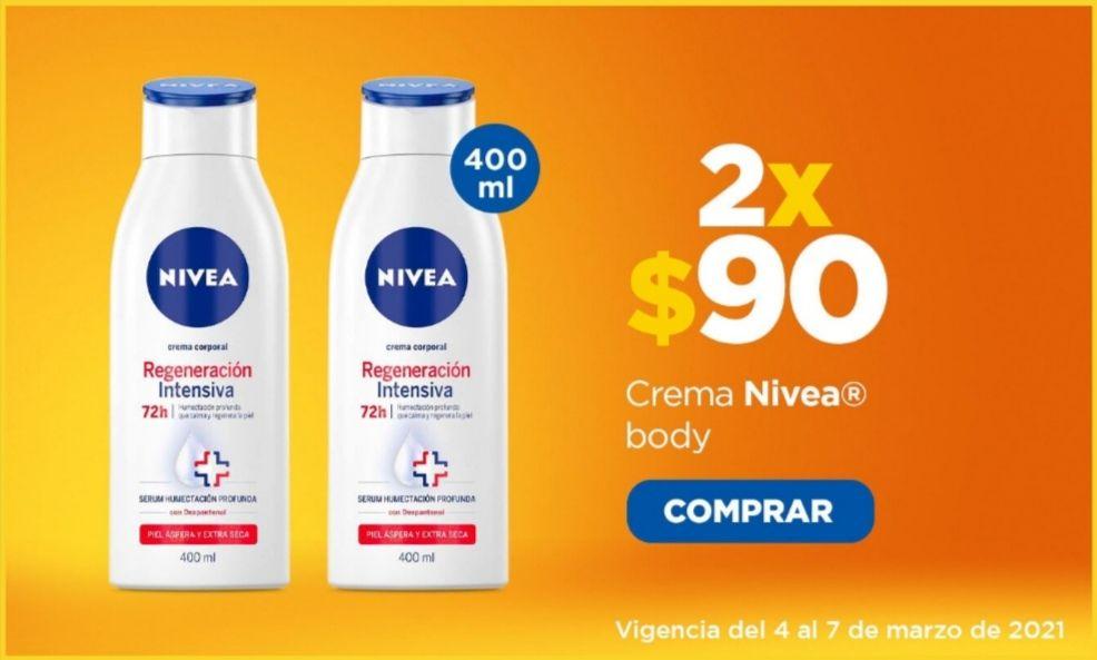 Chedraui: Crema Nivea Body 400 ml. 2 x $90 (Precio individual $70)