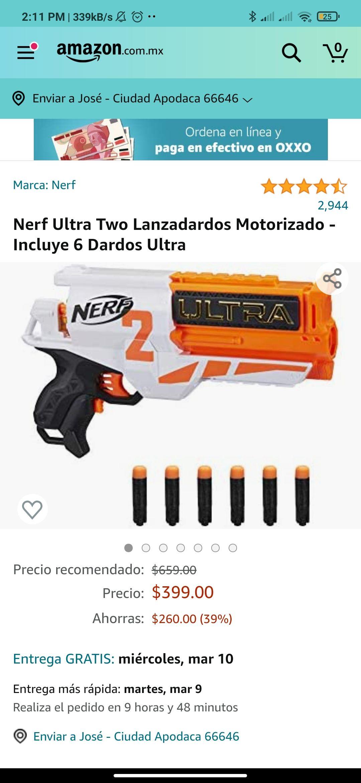 Amazon: Nerf Motorizada