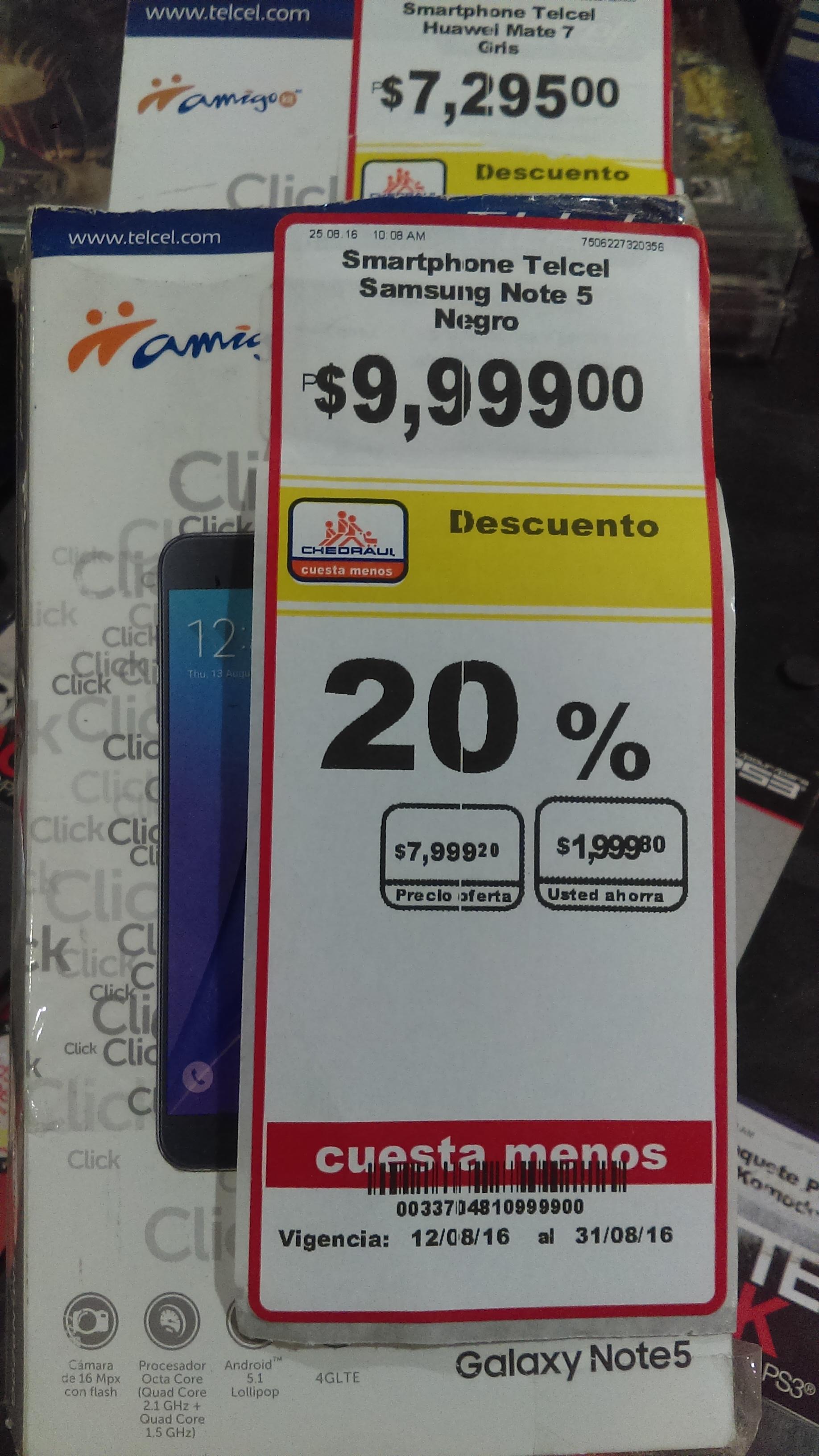 Chedraui Cuajimalpa: Galaxy Note 5 a $7,999