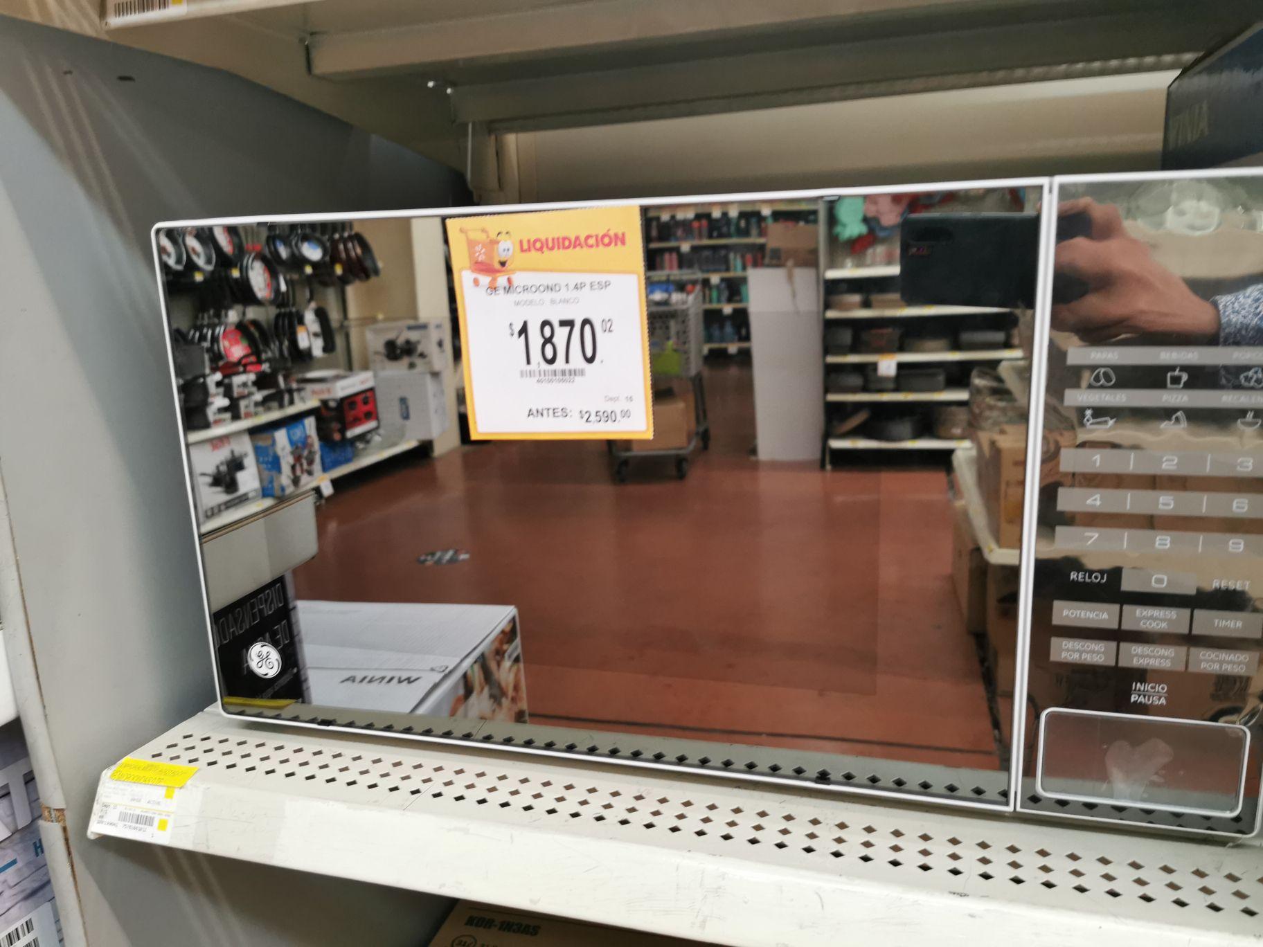 Walmart: Horno de. Microonda GE 1.4 pies