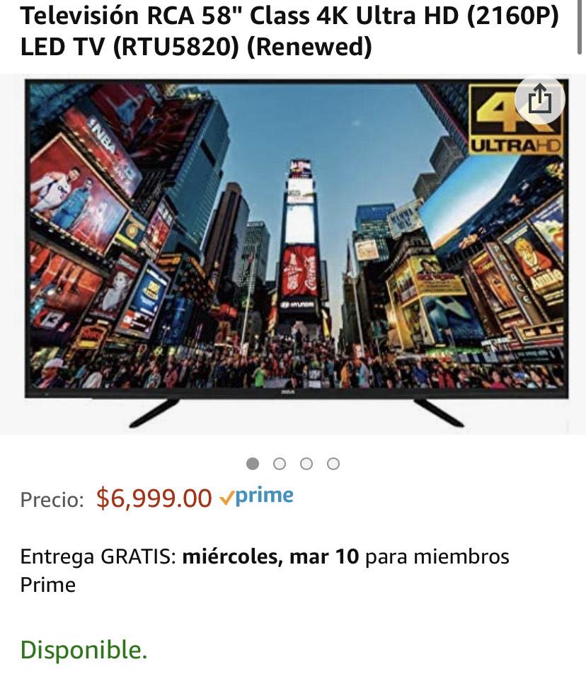 "Televisión RCA 58"" Class 4K Ultra HD | Amazon RENEWED"