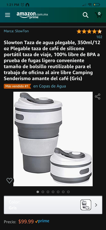 Amazon: Taza de agua plegable, 350ml/12 oz