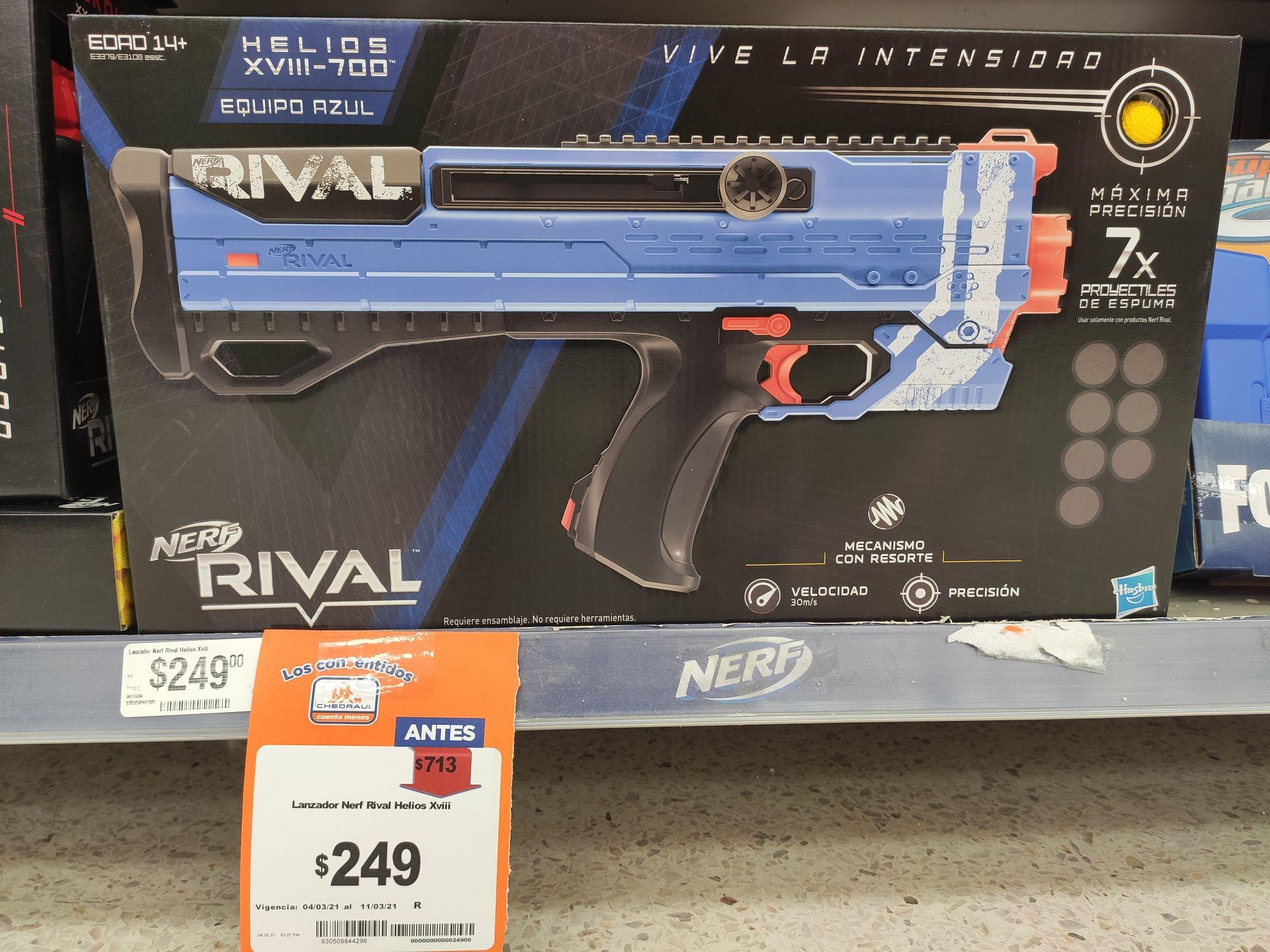 Chedraui: Pistola Nerf Rival