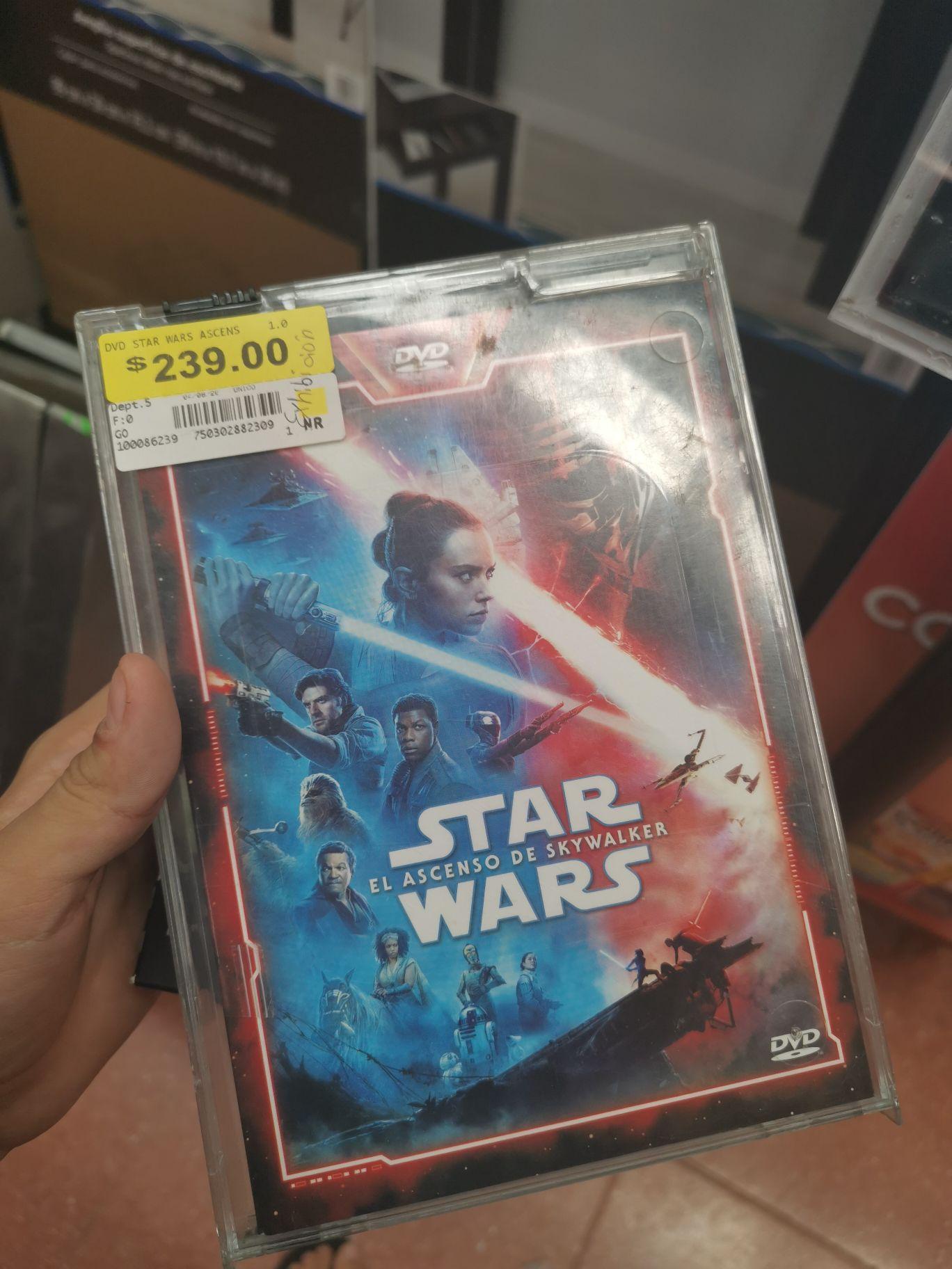 Walmart: dvd star wars de $239 a $23.01 , y más artículos y juguetes de MADRIGUERAS a 0.01