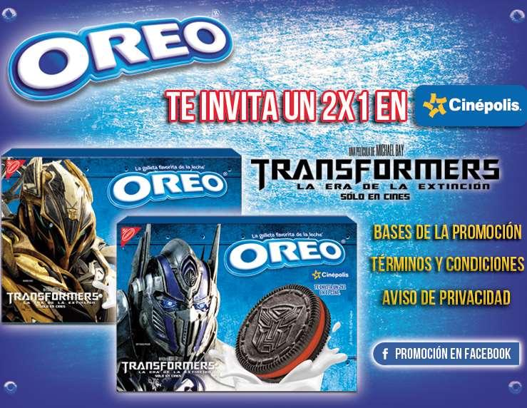 Cinépolis: 2x1 para ver Transformers: la era de la extinción comprando galletas Oreo