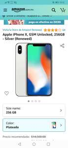 Amazon : Apple iPhone X, GSM Unlocked, 256GB - Silver (Renewed) (Keepa)