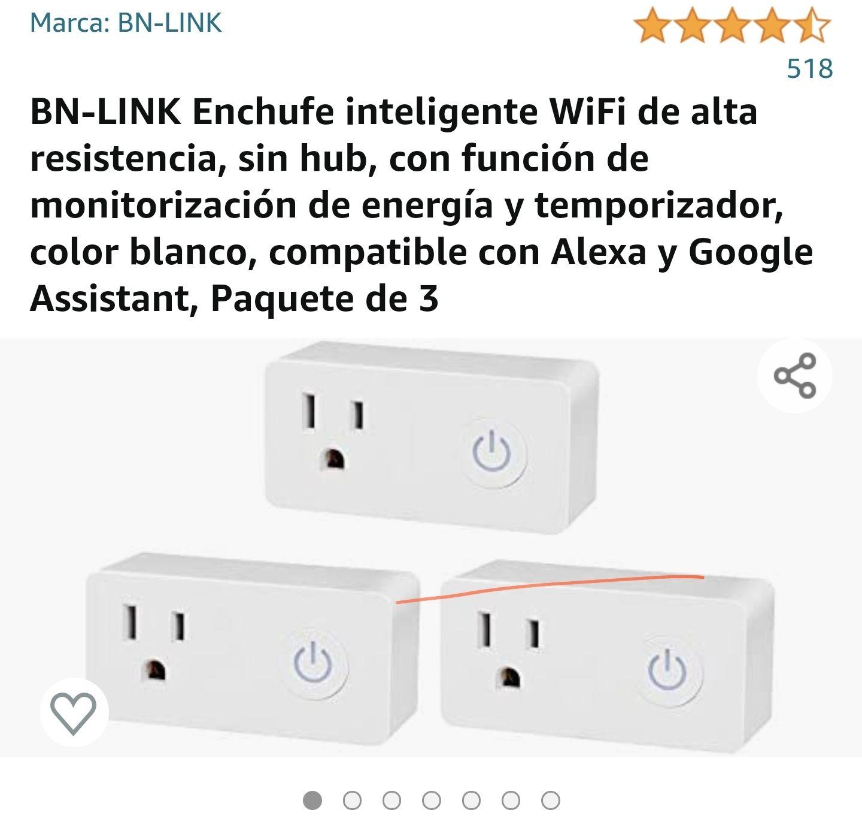 Amazon: Enchufe inteligente WiFi de alta resistencia BN-LINK paquete de 3.