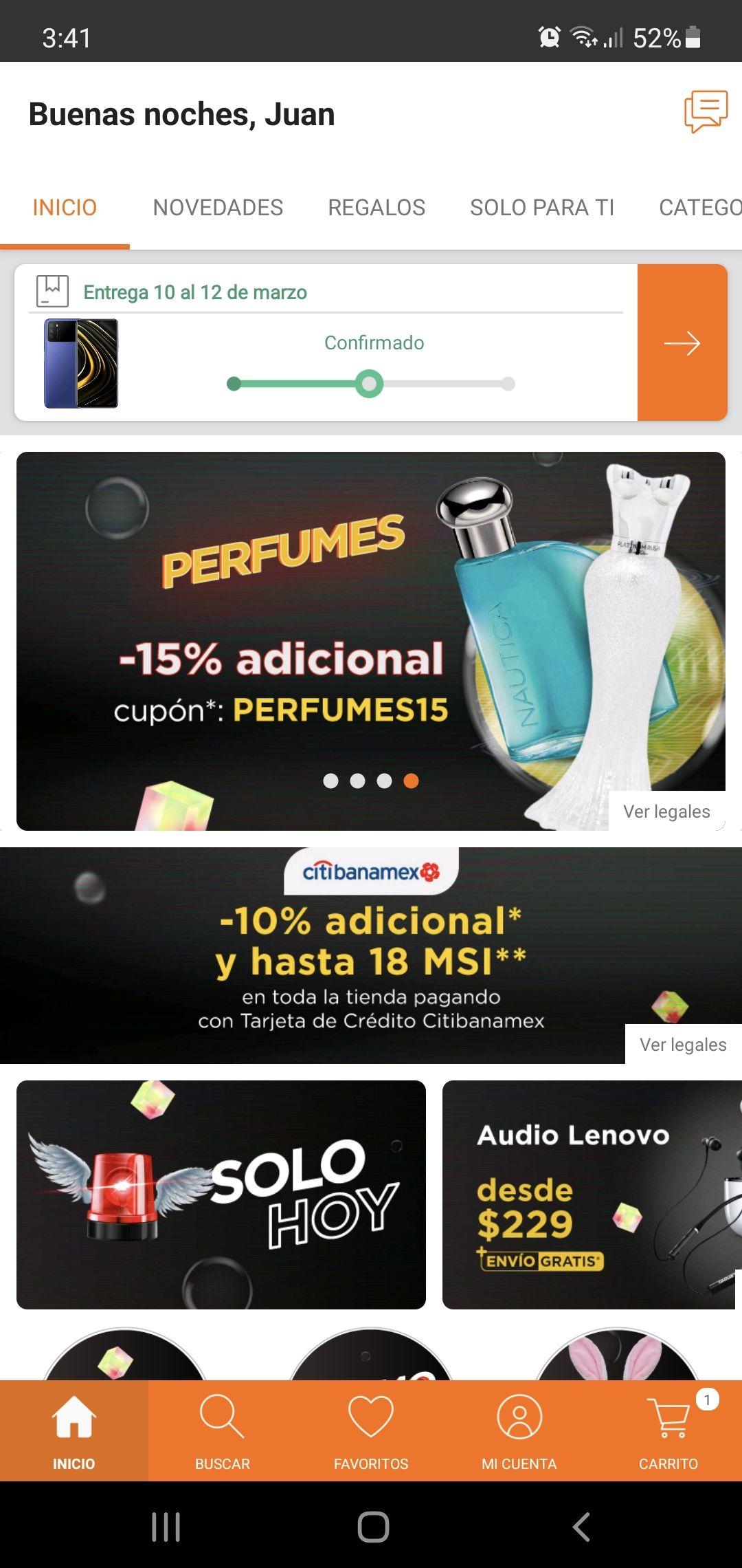 Linio: 25% de descuento acumulado en perfumes con TDC Citibanamex