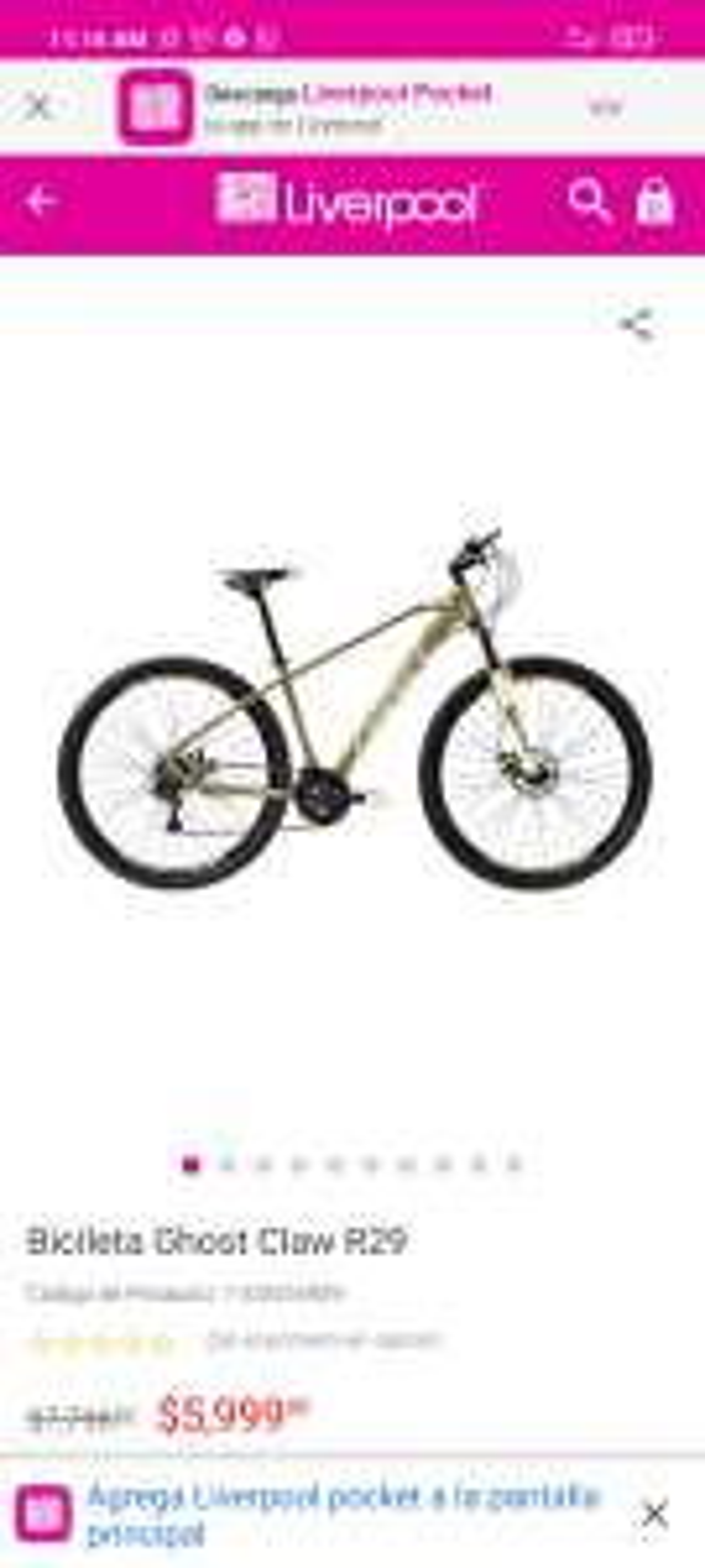 Liverpool: Bicicleta Ghost Claw R29