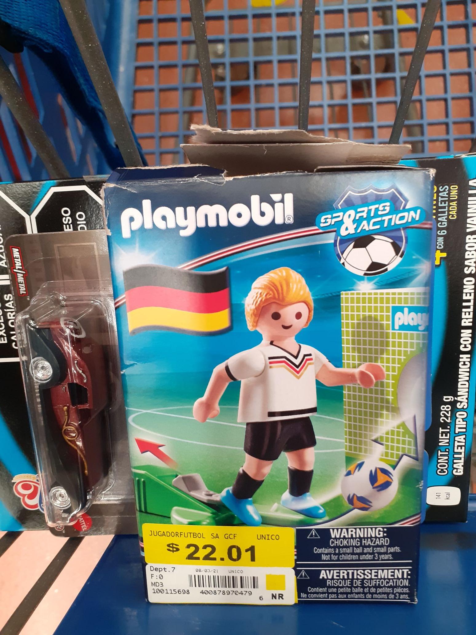 Walmart: Playmobil futbolero Alemánsito