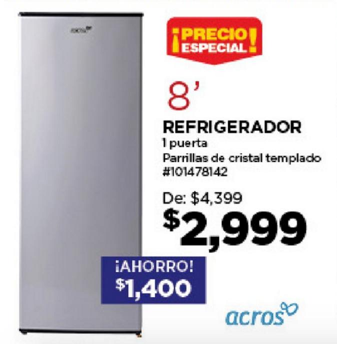 Lowes: Refrigerador Acros 8' a $2,999 y Folleto Fiesta de Aniversario