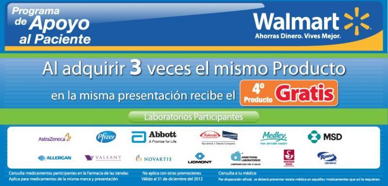 Walmart: 4x3 en algunas medicinas