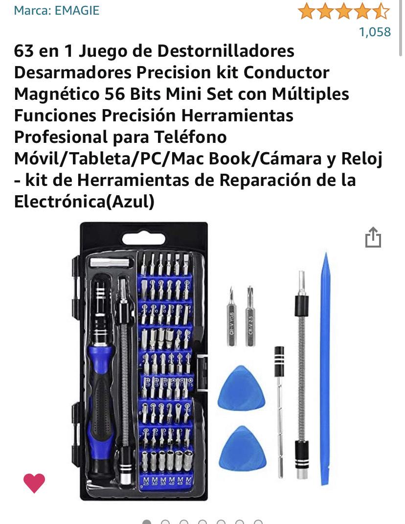 Amazon: kit de Herramientas y Desarmador de Reparación