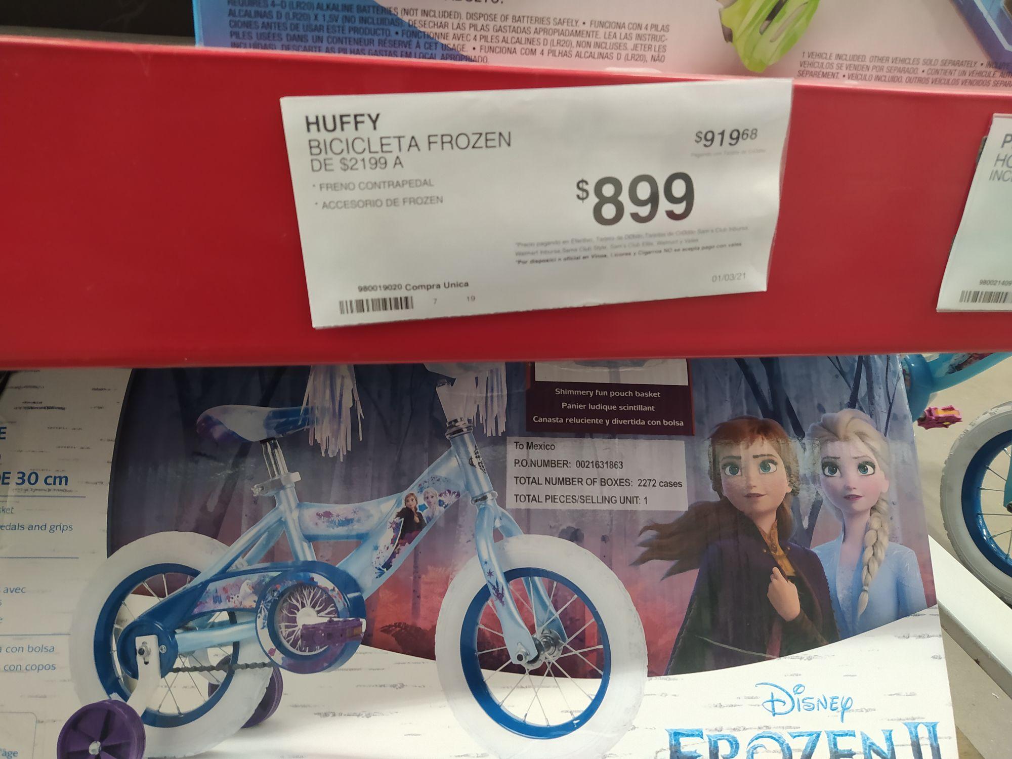 Sam's: bicicleta frozen