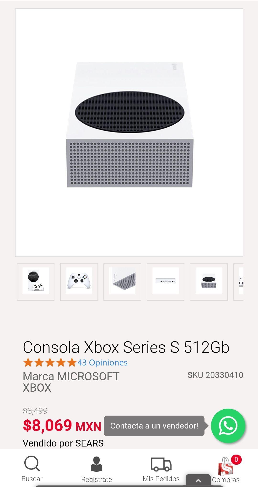 Sears: Consola Xbox Series S