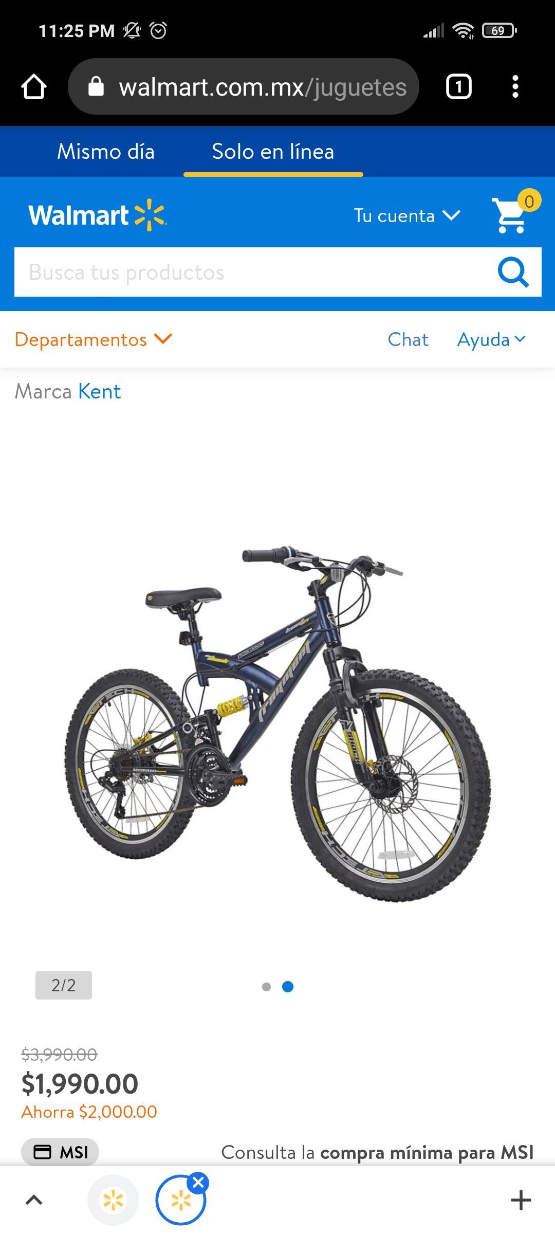 Walmart: Bicicleta Kent R24