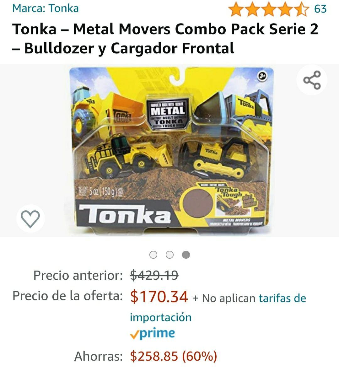 Amazon: Juguete Tonka, precio más bajo histórico.