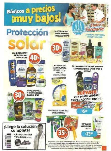 Folleto Farmacias Guadalajara 16/07: 3x2 en cereales Gerber, 40% en línea Tempra y Derman y más