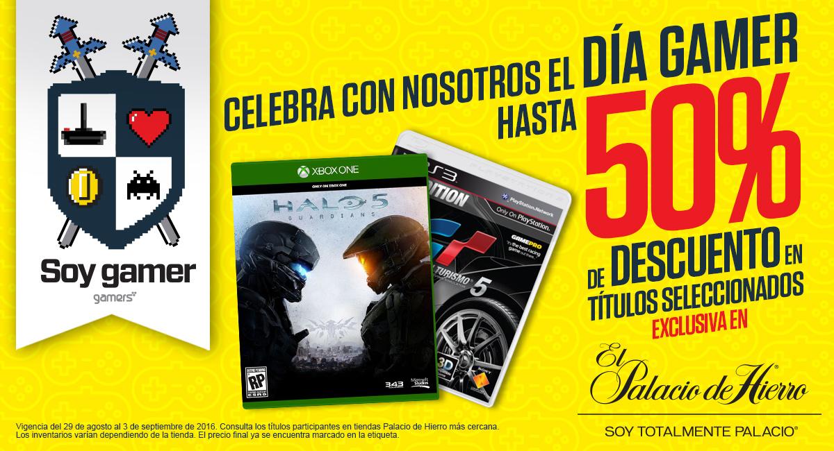 Palacio de Hierro y Gamers Retail: Día del videojugador hasta 50% de descuento en títulos participantes