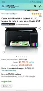 Amazon: Epson multifuncional ecotank
