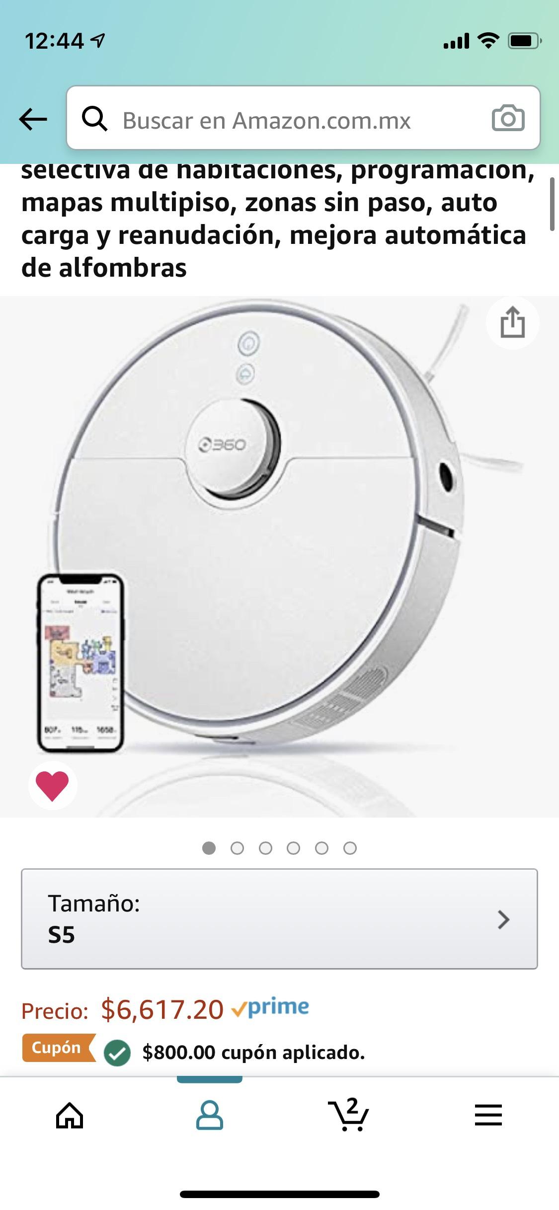 Amazon: Aspiradora robot 360 S5