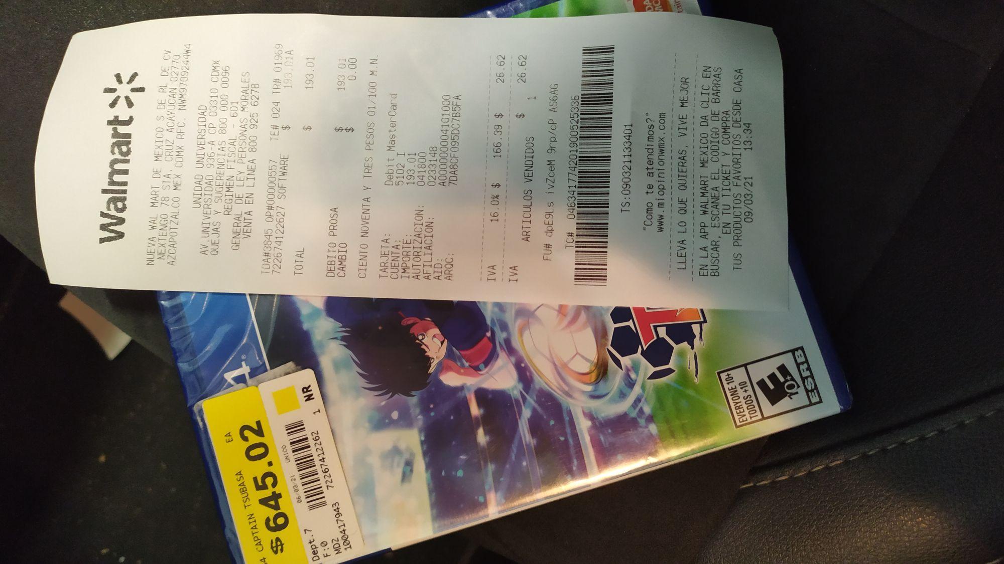 Walmart: Captain Tsubasa/Super campeones PS4