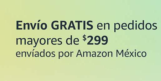 AMAZON - primer envío gratis en pedidos mayores a $299 y $499 en Amazon gringo