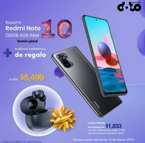 Doto: Xiaomi Redmi note 10 (128gb 4gb) + Audifonos inalambricos