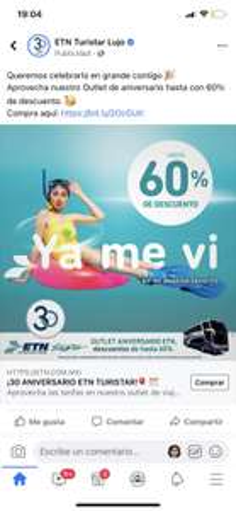 ETN: 60% de descuento por Outlet de 30 Aniversario