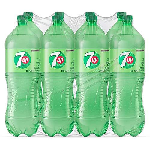 Amazon: 7UP Refresco con Sabor a Lima-Limón Light, Contenido 1 Paquete de 8 Botellas de PET de 2 Litros Cada Una
