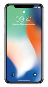 AT&T: Apple iPhone X 64 GB AT&T color plata